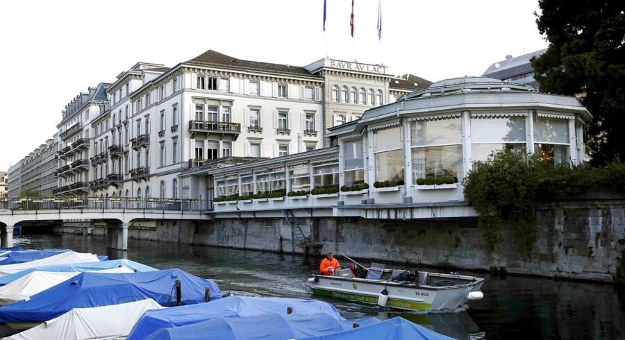 Baur au Luc hotellet i Zürich, hvor seks medlemmer af FIFA onsdag morgen blev arresteret.
