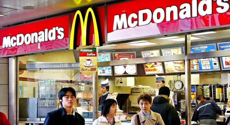 Arkivfoto af en McDonalds restaurant i Tokyo (Foto: YOSHIKAZU TSUNO/Scanpix 2017)