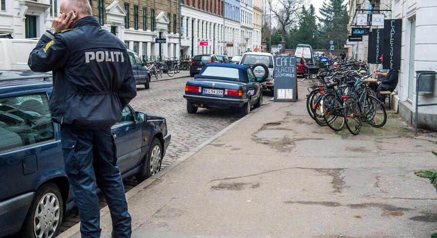 Politi aktion i Jægersborggade imod hashpushere og bagmænd.