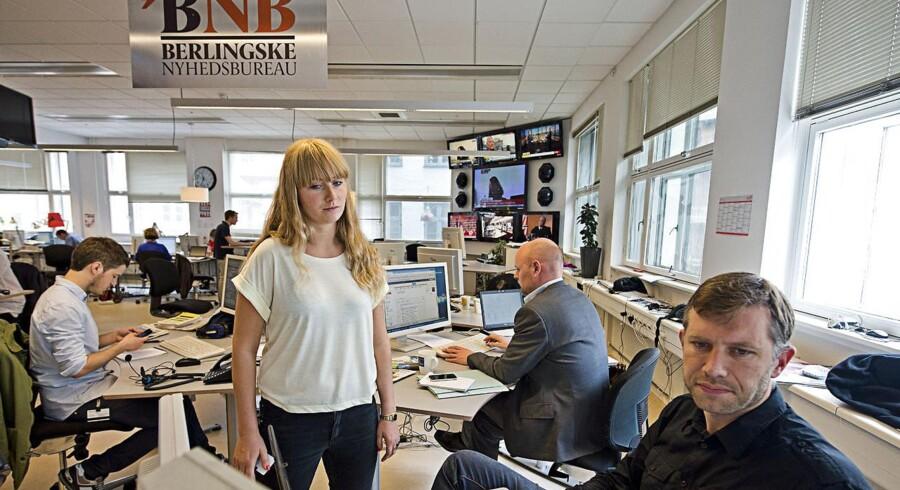 Regeringen og Enhedslisten er blevet enige om en ny mediestøtte. Her billede fra Berlingskes newsroom.