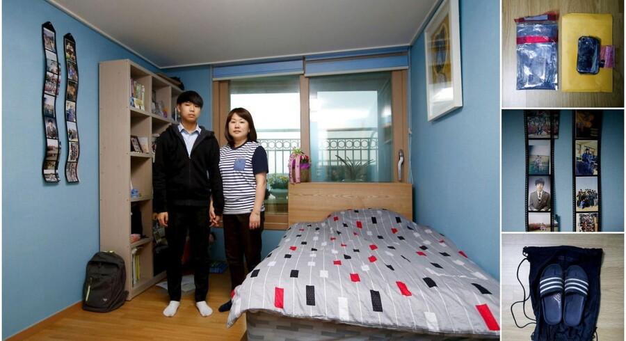 Næsten et år efter Sewol-færgeforliset, der kostede 250 sydkoreanske skoleelever livet, har en del af de efterladte og sørgende familier ladet deres børns værelser stå urørte for at mindes de omkomne.