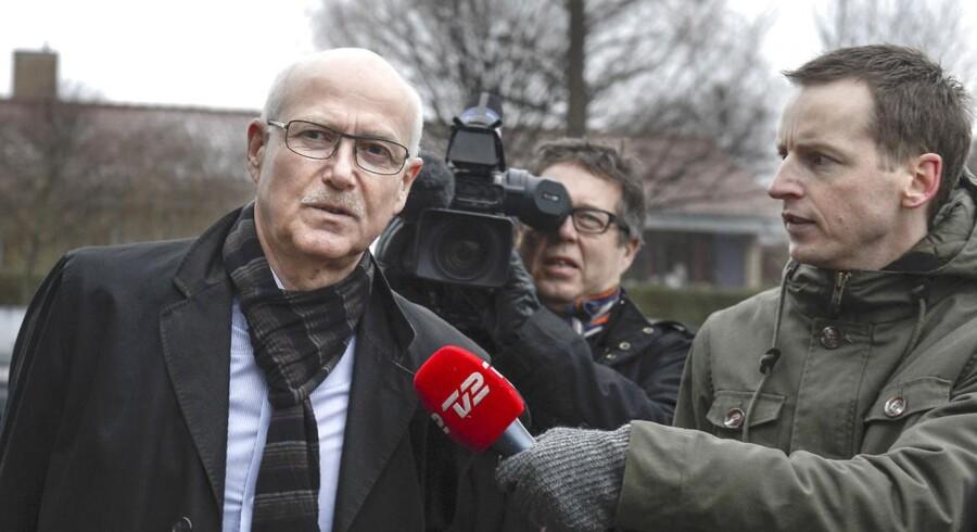 Produktionsdirektør Steffen Normann Hansen ankommer til afhøring i Skattesagskommissionen 29 januar 2013. I dag forklarer han sig igen.