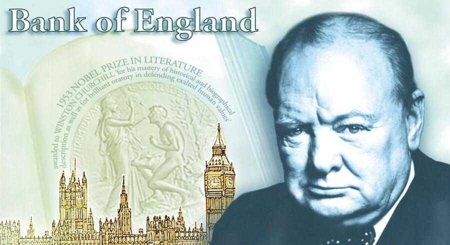 Sir Winston Churchill skal bryde de britiske pengesedler fra 2016.