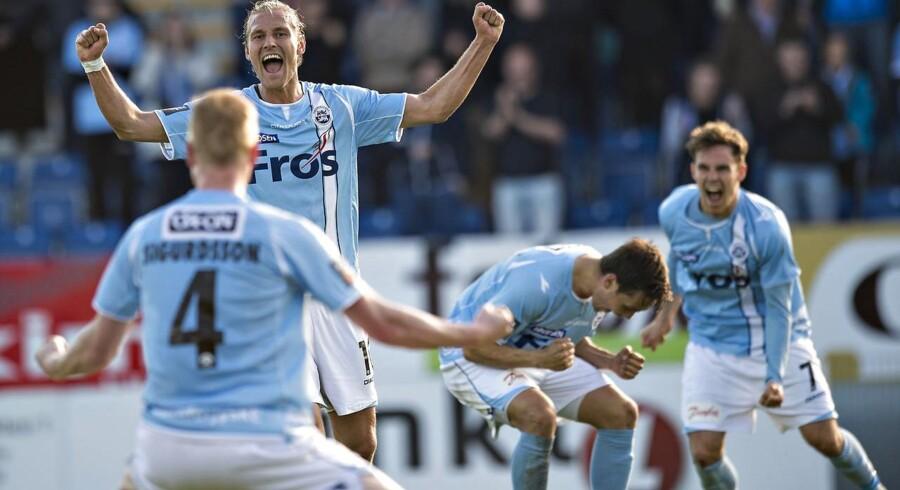 Med uafgjort 1-1 bliver Sønderjyske i Superligaen. Her jubel ved slutfløjtet.