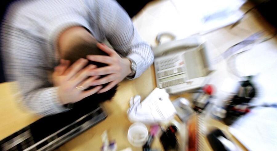 Samtaleemnet psykiske sygdomme er stadig tabubelagt - også på arbejdspladserne. Modelfoto:Jens Nørgaard Larsen