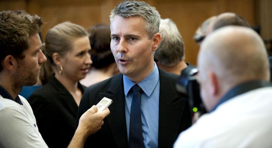 Socialdemokraternes Henrik Sass Larsen under Folketingets åbning tirsdag d.4.oktober 2011.