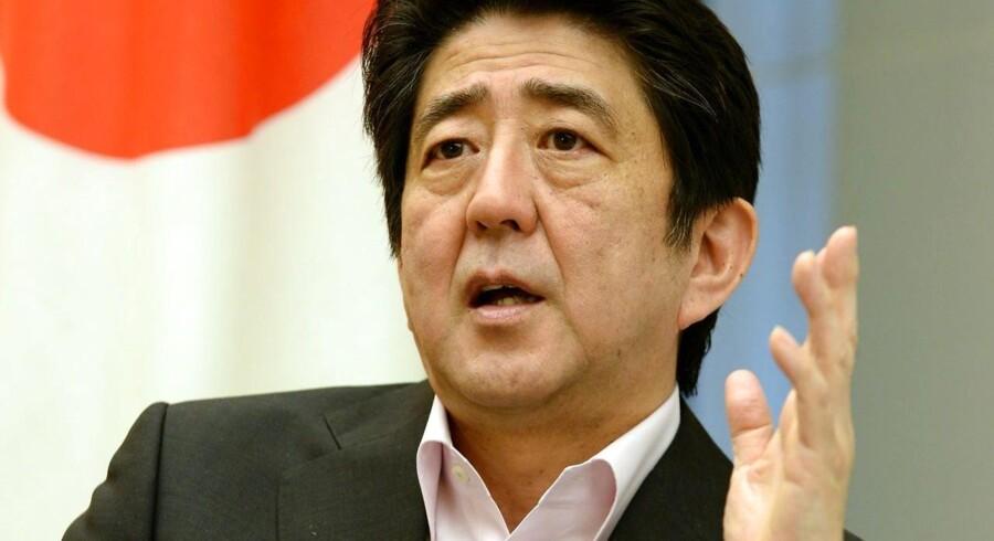 Den japanske premierminister Shinzo Abe.