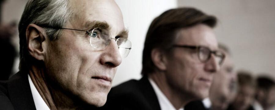 Danske Bank besætter førstepladsen med en stigning på knap 91 pct. Her ses ordførende direktør Peter Staarup.