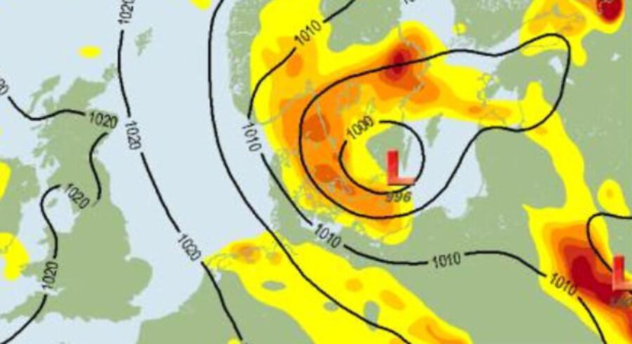 Det er en ordentlig snurrebasse, der har ramt Danmark. Hvis der er tale om skybrud, så dækker forsikringen.
