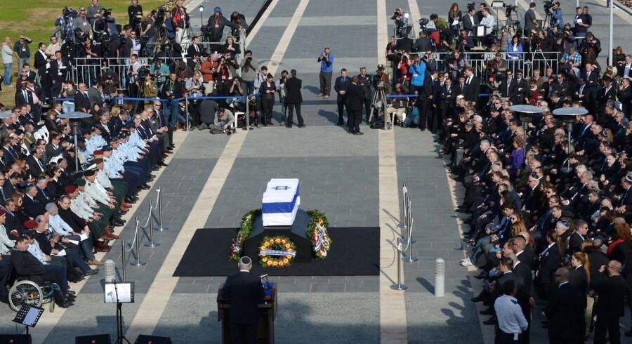 Ariel Sharons mindehøjtidelighed.