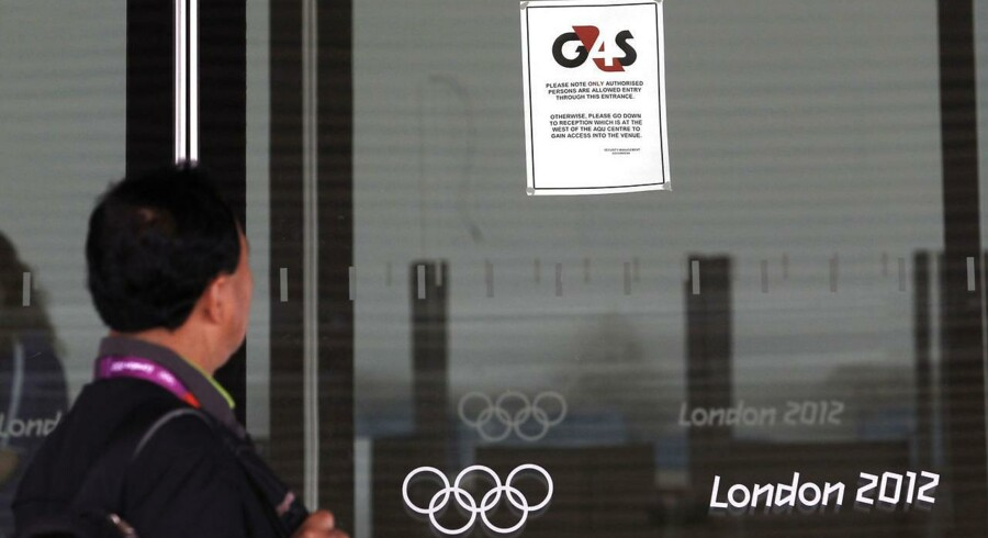 Sikkerhedsfirmaet G4S havde svært ved at stille med det nødvendige antal vagter til sidste års OL i London.