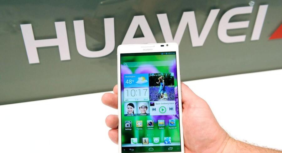Den kinesiske mobilgigant Huawei spiller en central rolle i Texas Instruments' flotte regnskab.