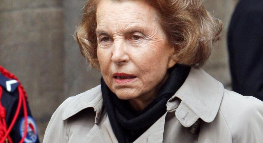 Liliane Bettencourt har arvet L'Oreal-imperiet fra sin far.