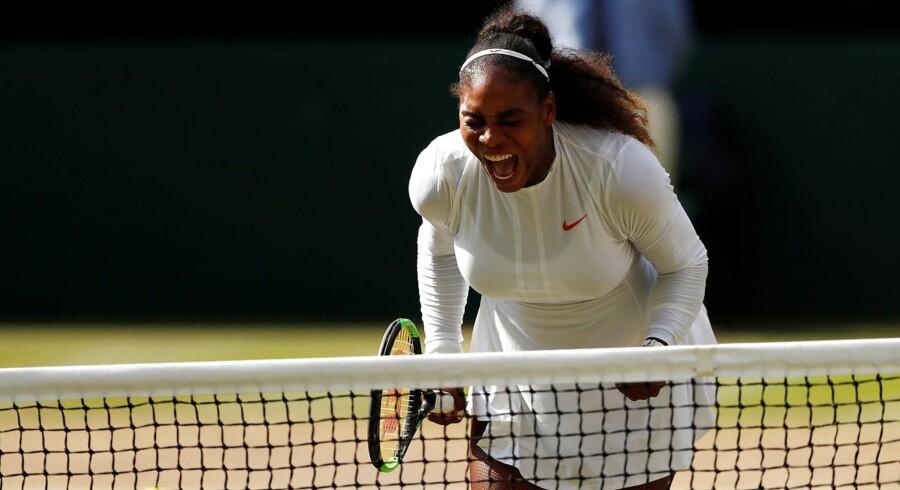 Wimbledon var blot den fjerde turnering for Williams, siden hun fødte sit første barn i september 2017. Oli Scarff/Ritzau Scanpix