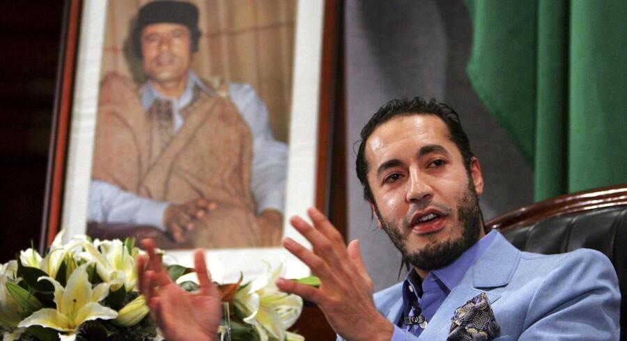 ARKIVFOTO. Niger har udleveret Muammar Gaddafis søn Saadi Gaddafi til den libyske regering, som har ønsket ham udleveret, siden han flygtede til det sydlige naboland, efter faderen blev væltet under et NATO-støttet oprør i 2011.