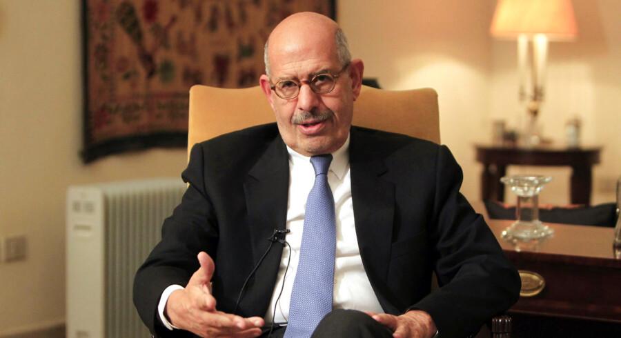Den tidligere chef for FNs atomagentur, Mohamed ElBaradei, er blevet udnævnt til midlertidig vicepræsident med ansvar internationale anliggender.