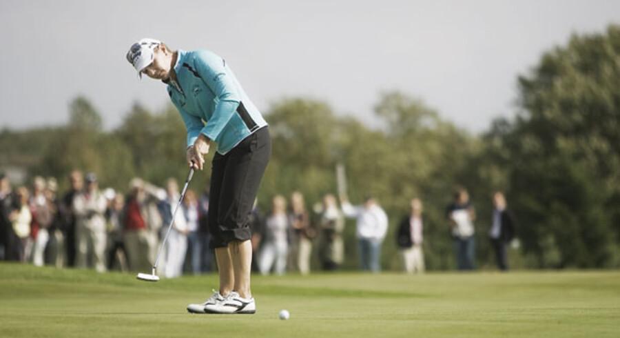 Efter fire år med Nykredit Masters har Dansk Golf Union besluttet, at Ladies European Tour turneringen ikke bliver afviklet i 2009. Årsagen er en utilfredsstillende økonomi og et generelt usikkert marked.  Her er det svenskeren Annika Sörenstam ved Nykredit Masters 2008 i Simons Golf Club.