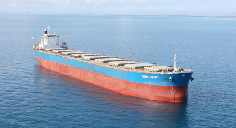 Fragtraterne for de helt store tørlastskibe, her Nord-Kraft, er igen begyndt at stige.