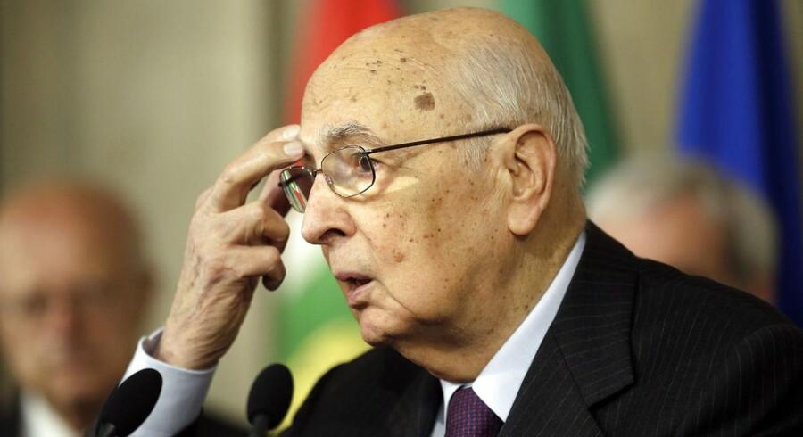 87-årige Giorgio Napolitano har sagt ja til at tage endnu en runde som præsident i Italien.