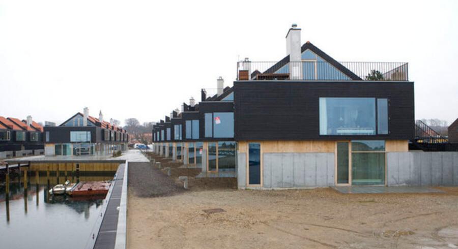 Havneområderne i Ebeltoft er et af de steder, hvor nybyggede boliger og fritidshuse står tomme.