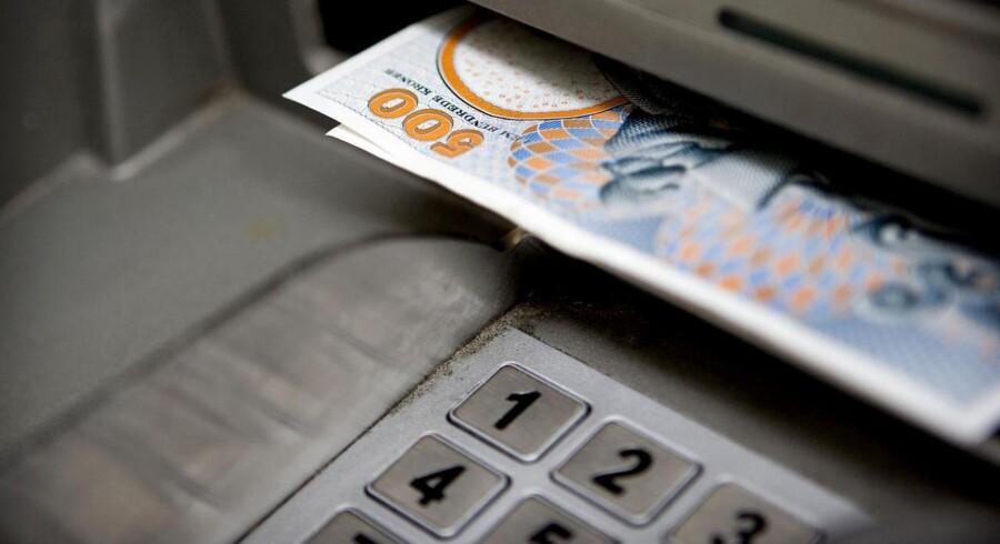 Så langt kommer pengene aldrig, hvis tyve tager et nyt og simpelt trick i brug. Arkivfoto.