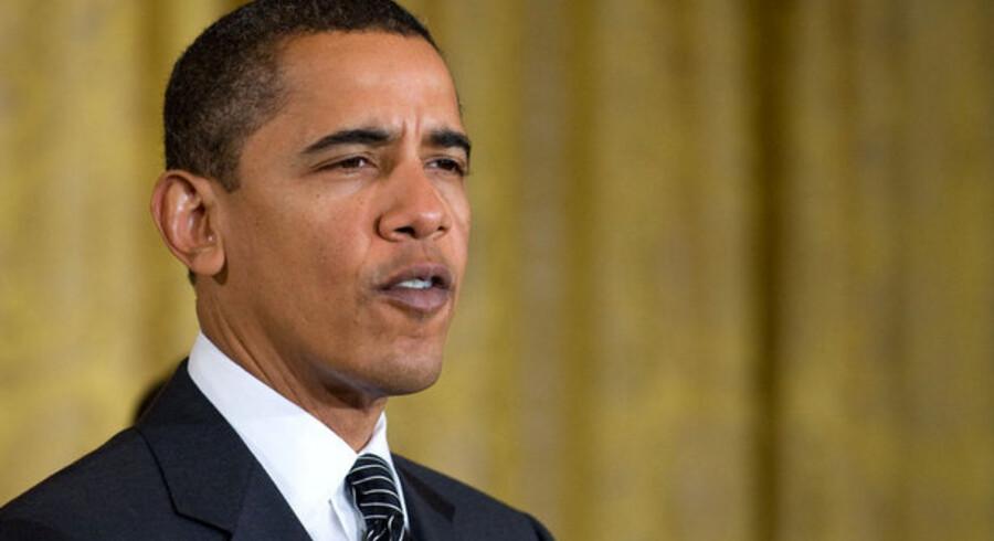 """""""Amerika skal ikke lade sig tage som gidsel af svindende ressourcer, fjendtlige regimer og en varmere planet,"""" sagde Obama."""