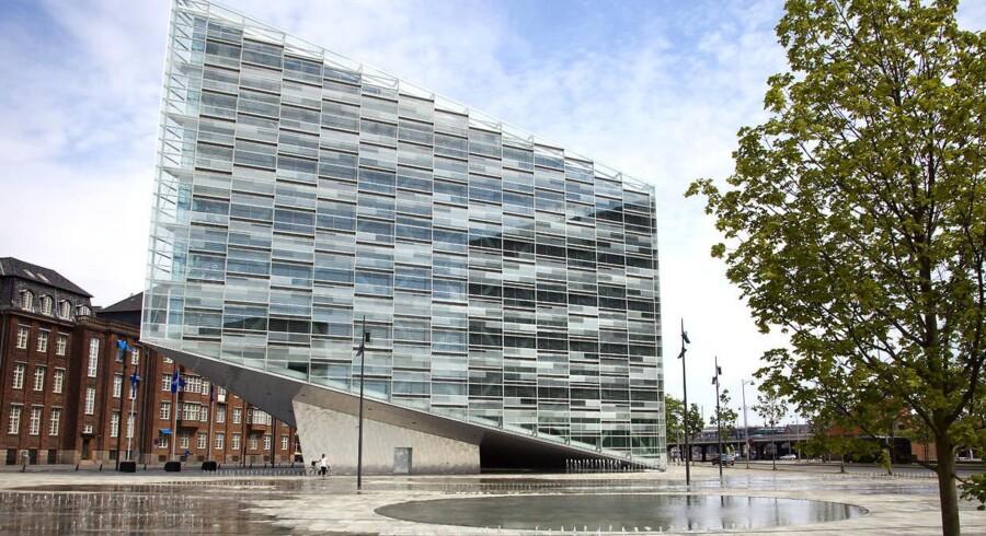 Nykredits nye hus på pladsen Under Krystallen i København.