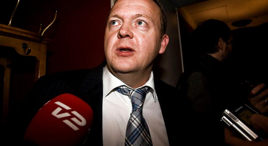 """""""En skattereform, som væsentligt lemper skatten på den sidst tjente krone, kan have stor betydning for deres arbejdslyst,"""" siger Lars Løkke Rasmussen."""