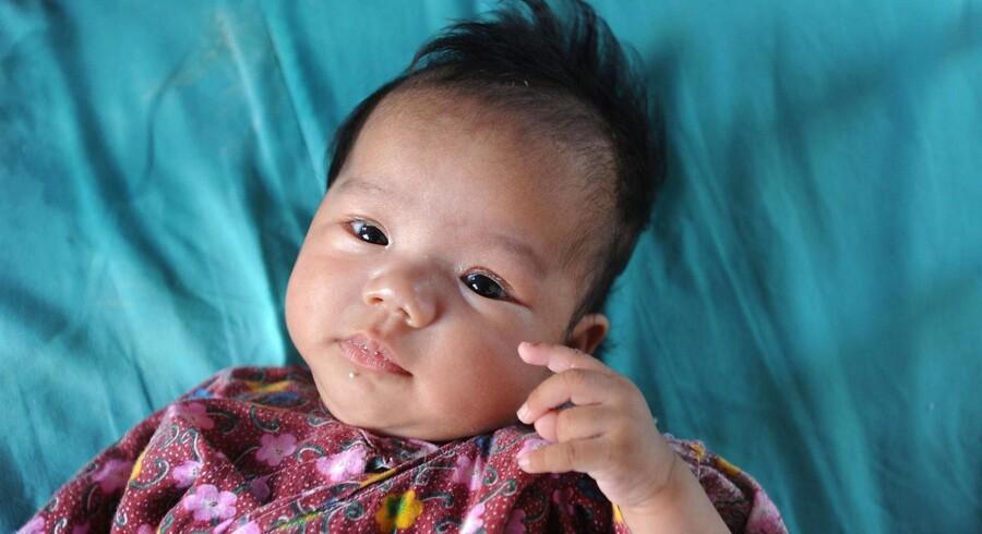 Et kinesisk barn på et børnehjem i Anhui-provinsen.