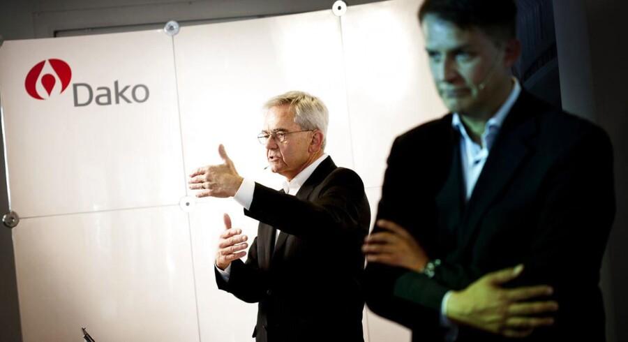 Agilent Technologies har købt Dako for 12 milliarder kroner - Agilents chef Bill Sullivan (til venstre) og Dakos direktør Lars Holmkvist forklarer om perspektiverne ved handlen.