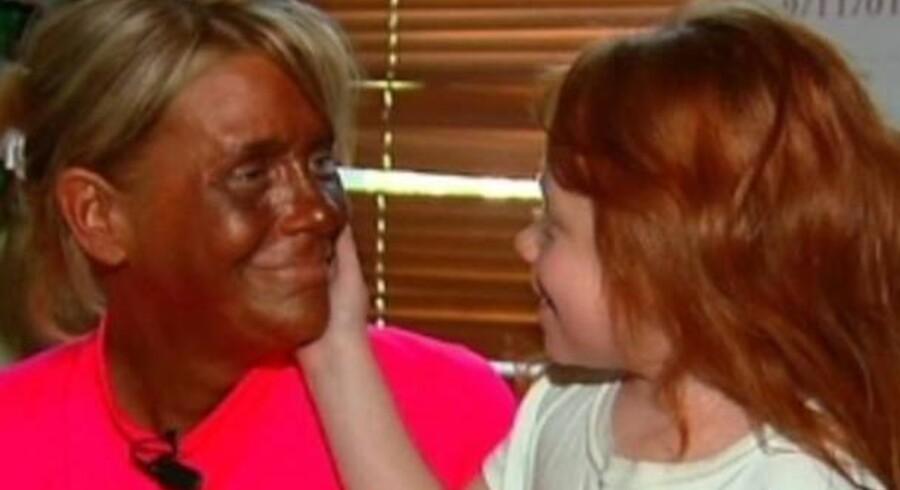 Patricia Krentcil og hendes fem-årige datter.
