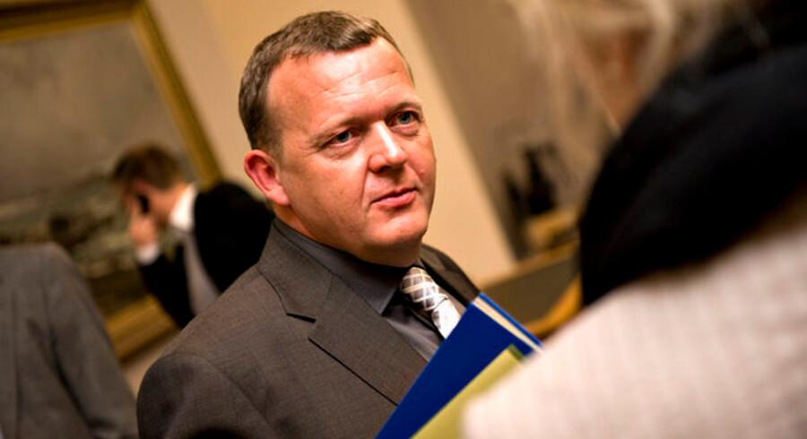 Tiden for at fremrykke offentlige investeringer banker på døren, hvis man skal tro finansminister Lars Løkke Rasmussen.