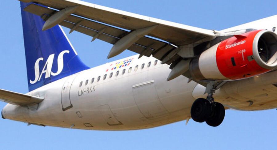 SAS flyver mindre på USA, viser nye tal.
