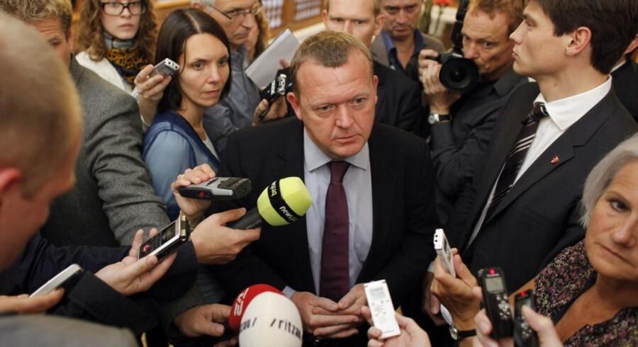 Statsminister Lars Løkke Rasmussen (V) svarer på spørgsmål.