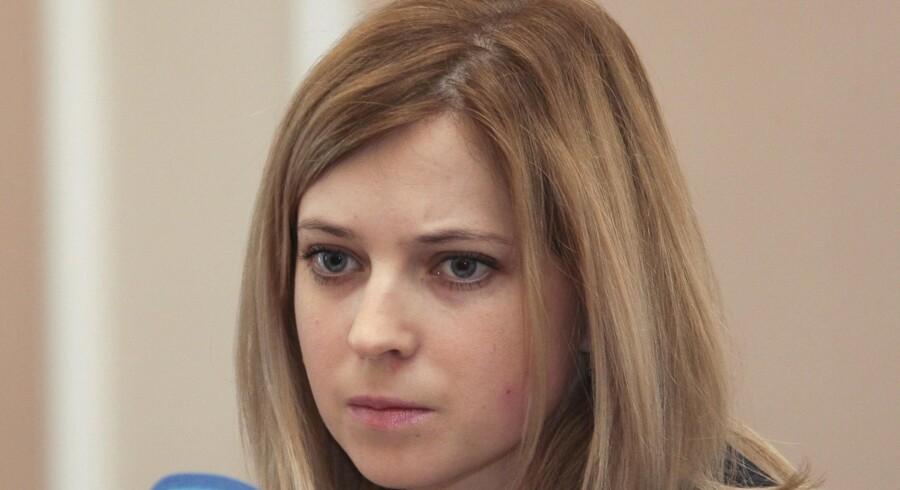 Natalja Poklonskaja var indtil Krims løsrivelse fra Ukraine en anonym jurist i landets justitsministerium. I dag er hun statsanklager på Krim og den 34-årige prorusser er desuden blevet et viralt hit kloden rundt. Hun er blevet model for talrige erotiske tegninger i manga-stil og forlæg for heltinden i et japansk computerspil.