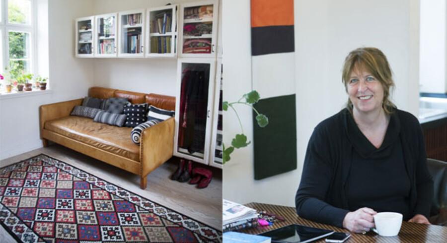 Tekstildesigner Lisbet Friis bor med sin mand i Raadvad nord for København.