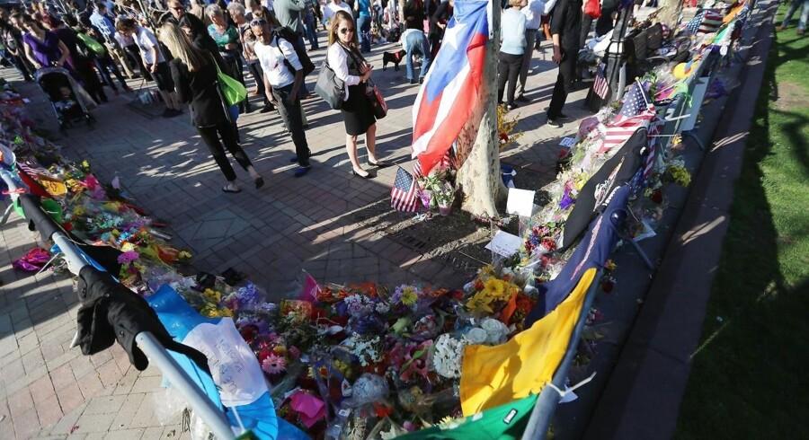 BOSTON. Copley Square i Boston er blevet til et mindested efter bomberne 14. april 2013.