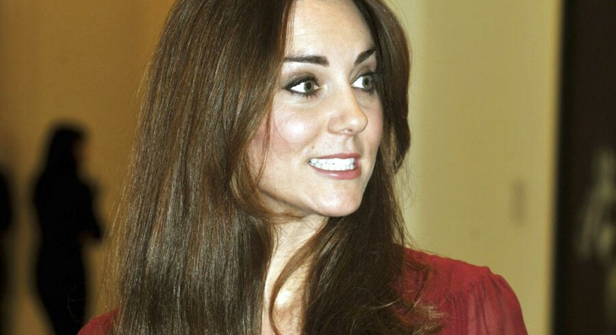Her er hertuginden af Cambridge fotograferet i Glasgow i januar 2013.