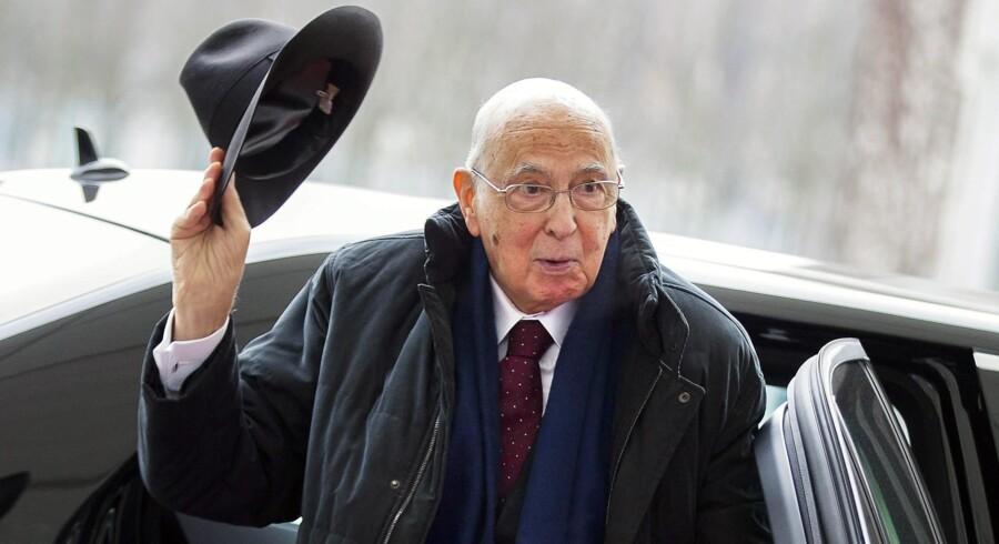 Som genvalgt præsident bliver det 87-årige Giorgio Napolitanos lod at skulle forsøge at samle trådene og bane vejen for dannelsen af en ny regering i Italien. Foto: Reuters