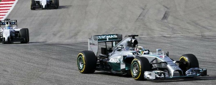 Lewis Hamilton (Mercedes) vandt det amerikanske granprix.