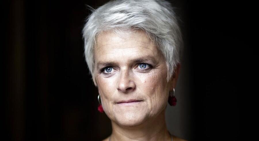Folketingsmedlem og kandidat til formandsposten i SF, Annette Vilhelmsen på Christiansborg