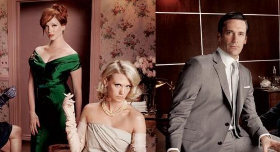 Tv-serien Mad Men om reklamemanden Don Draper og reklamebranchen i New York i 60'erne og 70'erne fik en Golden Globe for bedste tv-serie. Sæson 4 er på vej til Danmark, og nu har bagmændene bilagt stridigheder, så sæson fem kan optages.