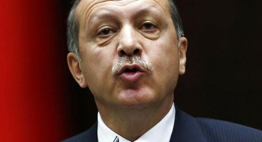 Tyrkiets premierminister Erdogan taler til medlemmer af parlamentet den 11. juni 2013, hvor han bl.a. adresserede uroen i Tyrkiet i disse dage.
