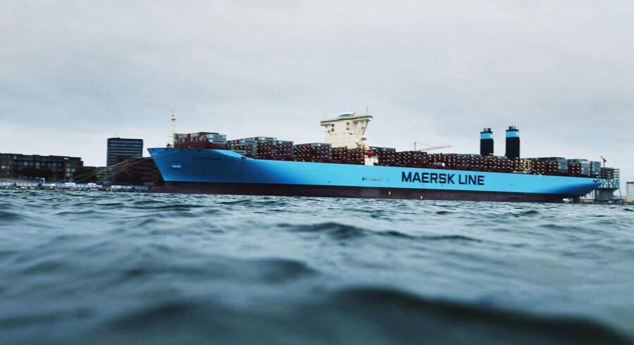 Mærsks nye containerskib, Majestic Maersk, ankom sent søndag til Langelinie. Trods det dårlige vejr var der mødt nysgerrige københavnere op.