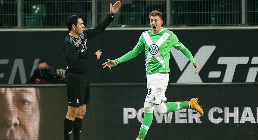 Nicklas Bendtner scorede fredag aften for Wolfsburg i den sidste testkamp inden forårets kampe i Bundesligaen.