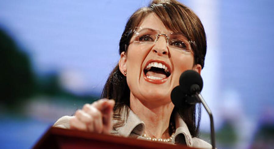 Sarah Palin skruer igen bissen på over for Barack Obama.