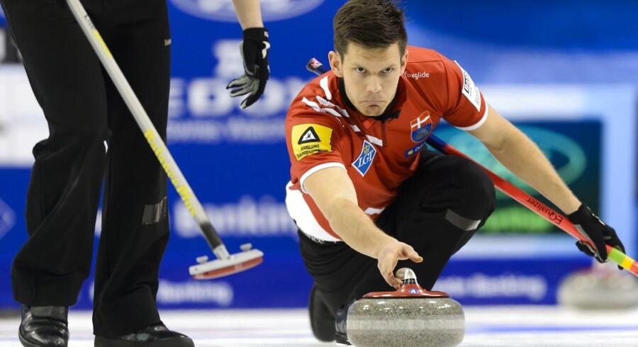 ARKIVFOTO af det danske curling landshold skipper Rasmus Stjerne
