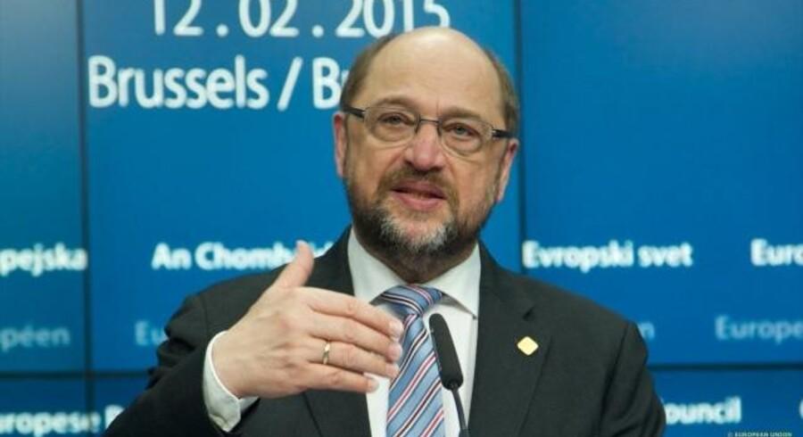 Siden valget af Martin Schulz som formand for de tyske socialdemokrater er partiet gået kraftigt frem i meningsmålingerne på landsplan. Men ved søndagens delstatsvalg er der ingen Schulz-effekt. Arkivfoto Det Europæiske Råd