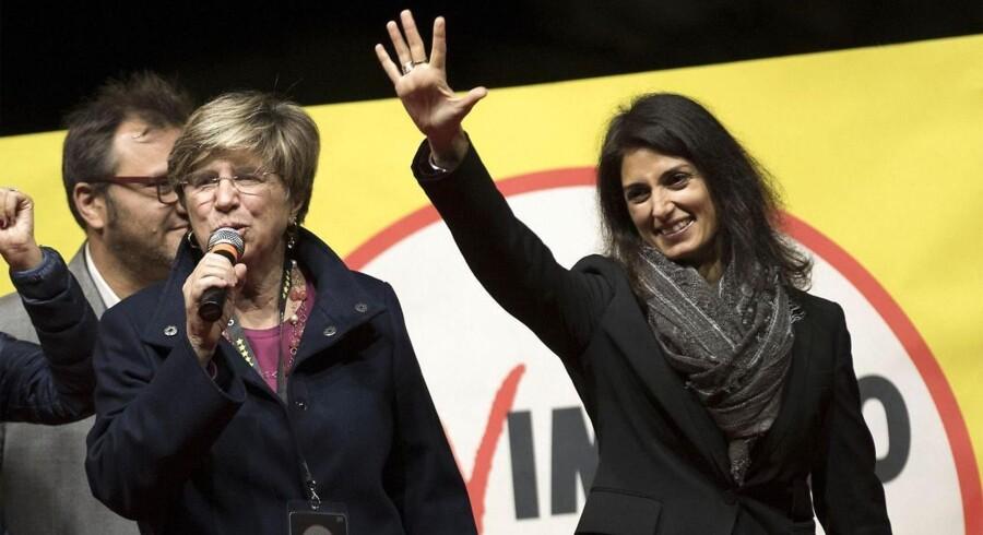 Giuliana Di Pillo, lige efter det afsløredes af hun havde modtaget 60 % af stemmerne i valget i Rom.