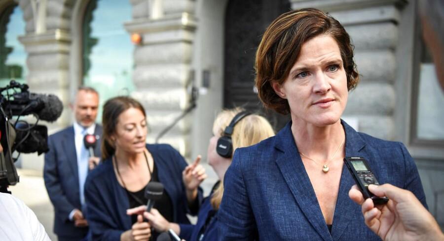 København. Det svenske parti Moderaternes leder, Anna Kinberg Batra, trækker sig fra posten. Det skriver nyhedsbureauet TT.TT News Agency/ Erik Simander via REUTERS